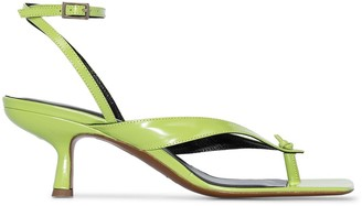 BY FAR Mindy 70 patent sandals