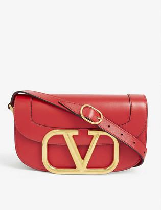 Valentino Supervee logo leather satchel bag