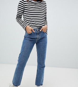 Weekday Voyage organic cotton straight leg jean in blue