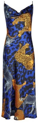 Dorothy Perkins Womens Lola Skye Blue Animal Slip Dress, Animal