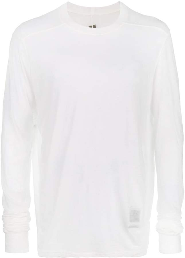 Rick Owens sheer sweatshirt