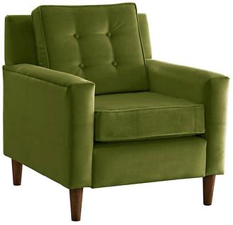 One Kings Lane Winston Club Chair - Green Velvet