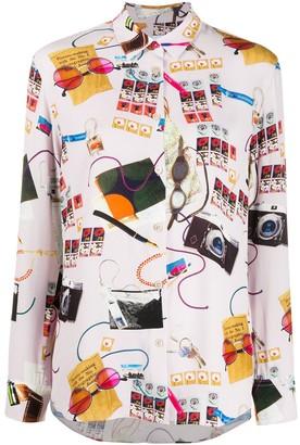 Paul Smith Graphic Print Viscose Shirt