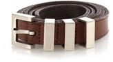 Saint Laurent Triple-loop leather belt