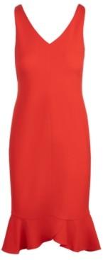 INC International Concepts Inc V-Neck Ruffled-Hem Sheath Dress, Created for Macy's