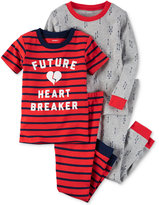 Carter's 4-Pc. Future Heart Breaker Pajama Set, Baby Boys (0-24 months)