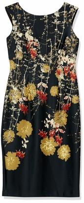 Gabby Skye Women's Floral Print Sheath Dress