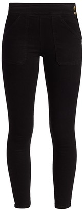 Frame Le Francoise High-Rise Button-Trimmed Skinny Jeans