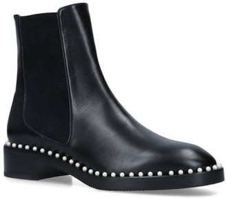 Stuart Weitzman Leather Cline Chelsea Boots
