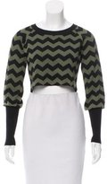 ALICE by Temperley Chevron Cropped Sweater