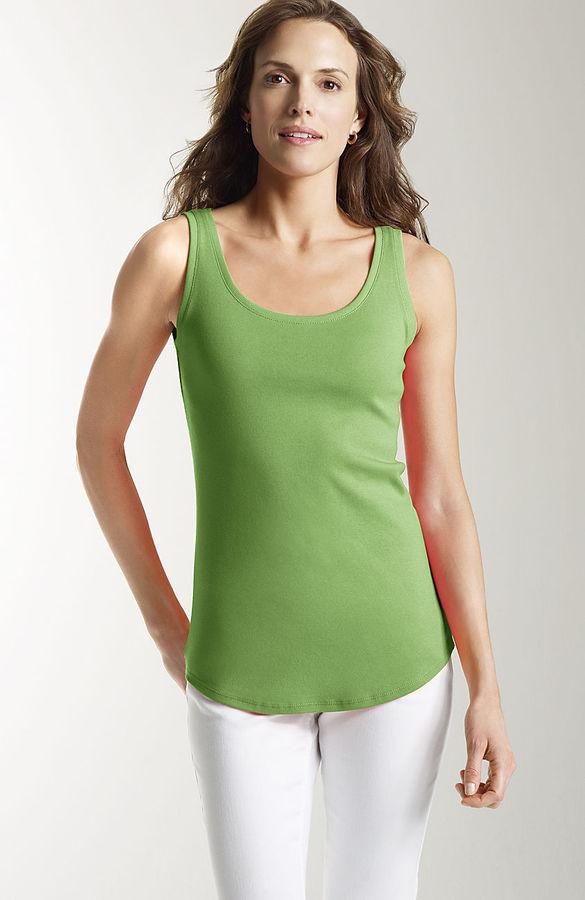 J. Jill Perfect pima cotton scoop-neck tank