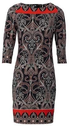 Dorothy Perkins Womens *Izabel London Black Damask Print Shift Dress, Black