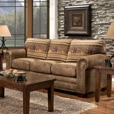 """Charlie Sofa Bed 88"""" Round Arms Sleeper Millwood Pines"""