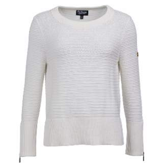Barbour International - Garrow White Knit Sweater - 8