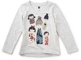 Tea Collection 'Kokeshi' Graphic Long Sleeve Tee (Toddler Girls, Little Girls & Big Girls)