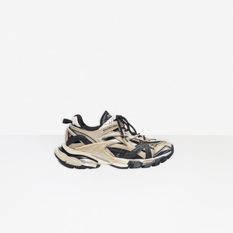 Balenciaga Track.2 Sneaker in black and beige mesh and nylon