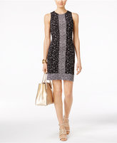 MICHAEL Michael Kors Nora Mixed-Print Sheath Dress