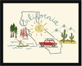 Pottery Barn California Framed Print
