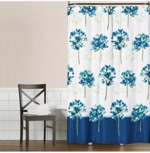 """Saturday Knight Blue Medley 70"""" x 72"""" Seersucker Shower Curtain Bedding"""