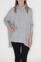 Cherish Heather Cowl Neck Sweater
