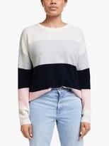 Cocoa Cashmere Wide Stripe Jumper, Multi