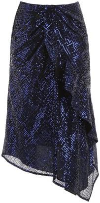 Self-Portrait Sequin Asymmetric Skirt