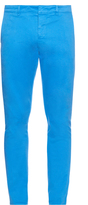 Ami Slim-leg cotton-blend chino trousers