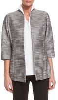 Misook Silver Linings Metallic Jacket, Petite