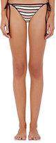 Milly Women's Striped & Open-Worked Bikini Bottom