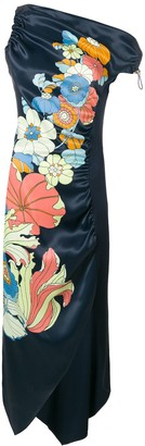 Peter Pilotto one-shoulder floral dress