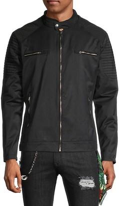 Rnt23 Moto-Panel Zip Jacket