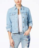 Rampage Juniors' Star-Embellished Denim Jacket