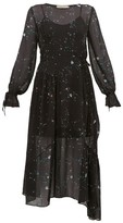 Preen Line Rosalba Floral-print Georgette Midi Dress - Womens - Black Multi