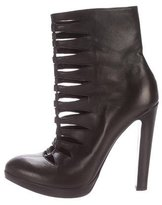 Alaia Leather Cutout Ankle Boots