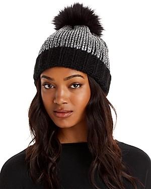 Aqua Pom Pom Knit Hat - 100% Exclusive