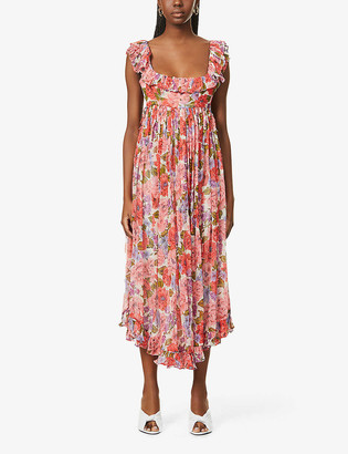 Zimmermann Poppy floral-print silk midi dress