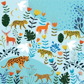 Jessie Zhao New York Silk Bandana Of Summer Animal Paradise