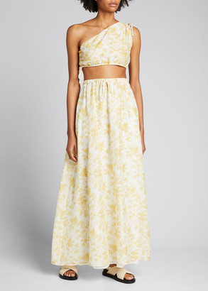 SIR the Label Clementine One-Shoulder Cropped Top