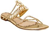 Marchesa Crystal \u0026 Gold leather Diana Sandal