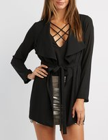 Charlotte Russe Draped Trench Coat