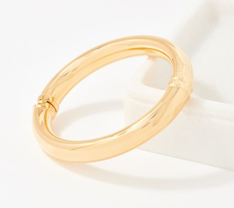NUOVO Oro Hinged Small Bangle, 14K Gold Over Resin