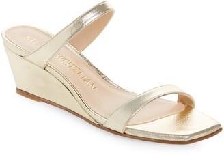 Stuart Weitzman Aleena Wedge Slide Sandal