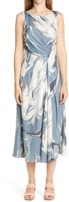 Lafayette 148 New York Anita Marbled Midi Dress