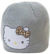 SANRIO Hello Kitty Knit Beanie with Animal Print Bow Embroidered Face Kids