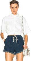 MSGM Elastic Waist Short Sleeve Shirt
