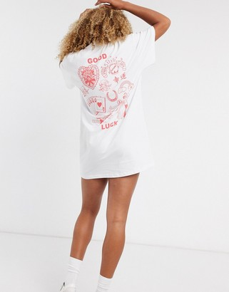 New Girl Order good luck back print t-shirt dress