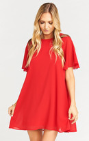 MUMU Jenner Dress ~ Red Head Chiffon
