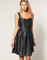 Metallic Tailored Dress