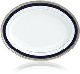 """Noritake Crestwood Cobalt Platinum"""" Oval Platter, 14"""""""