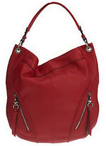 B. Makowsky Glove Leather Slouchy Hobo with Stitch Detail
